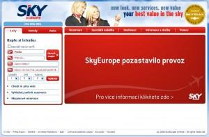 Oznámení o ukončení provozu na webu společnosti