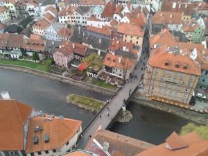 Pohled ze zámecké věže...
